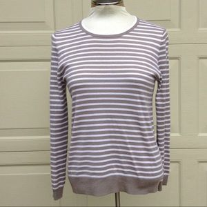 striped J CREW COLLECTION Italian cashmere sweater